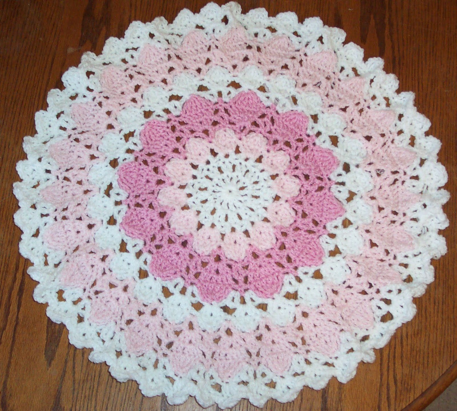 Doily Baby Blanket Crochet Pattern | Red Heart | Knitting and ...