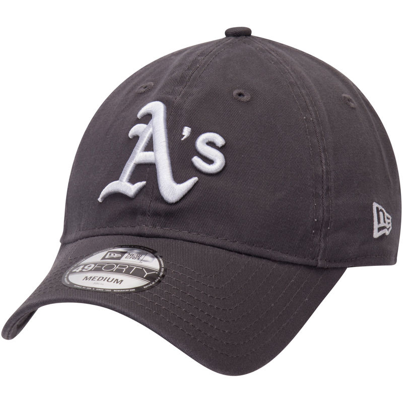 separation shoes b54fb 4c27e Oakland Athletics New Era Core 49FORTY Fitted Hat - Graphite