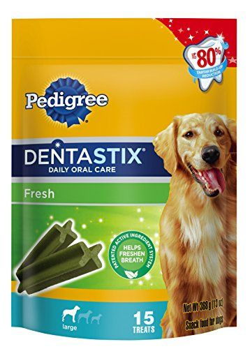 Pedigree Dentastix Fresh Large Treats For Dogs 13oz Pouch15 Ct