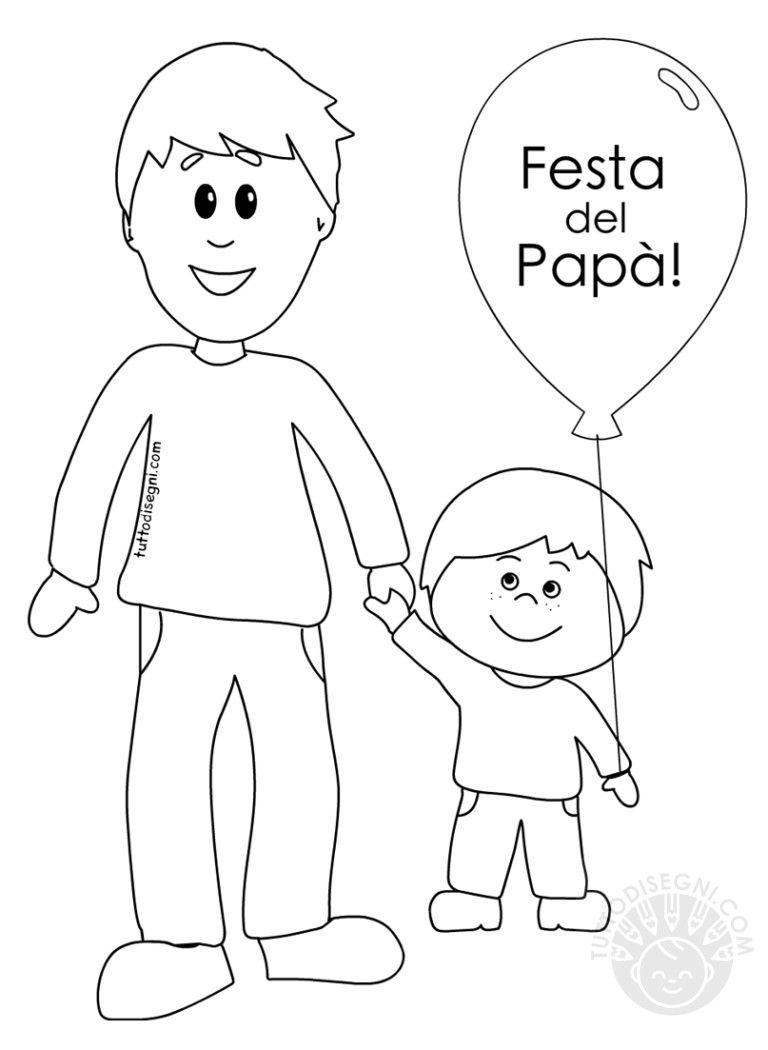 Padre E Figlio Disegni Per La Festa Del Papa Da Colorare Festa