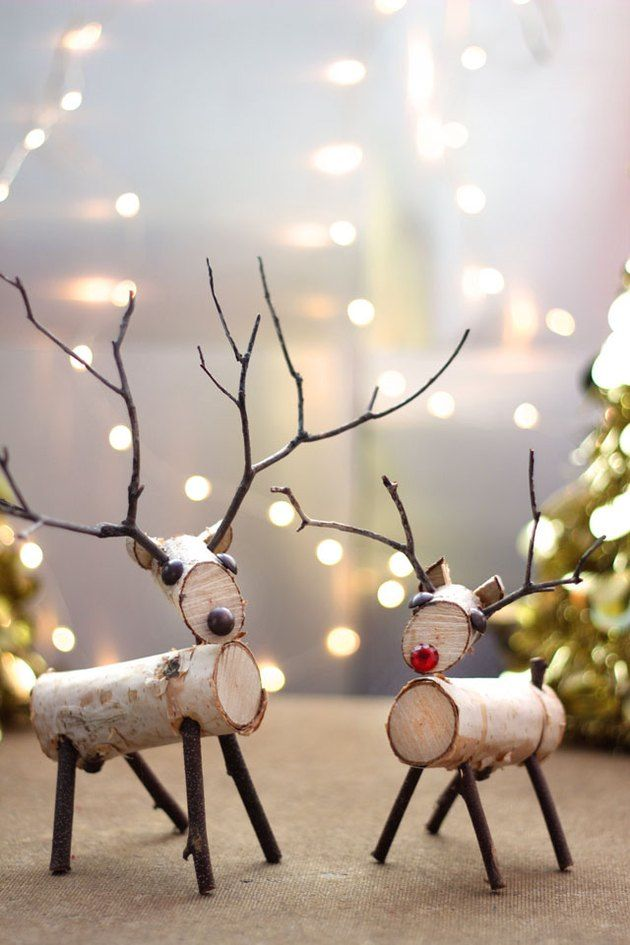 How to Make a Birch Wood Reindeer | eHow.com #kerstpronkstukken