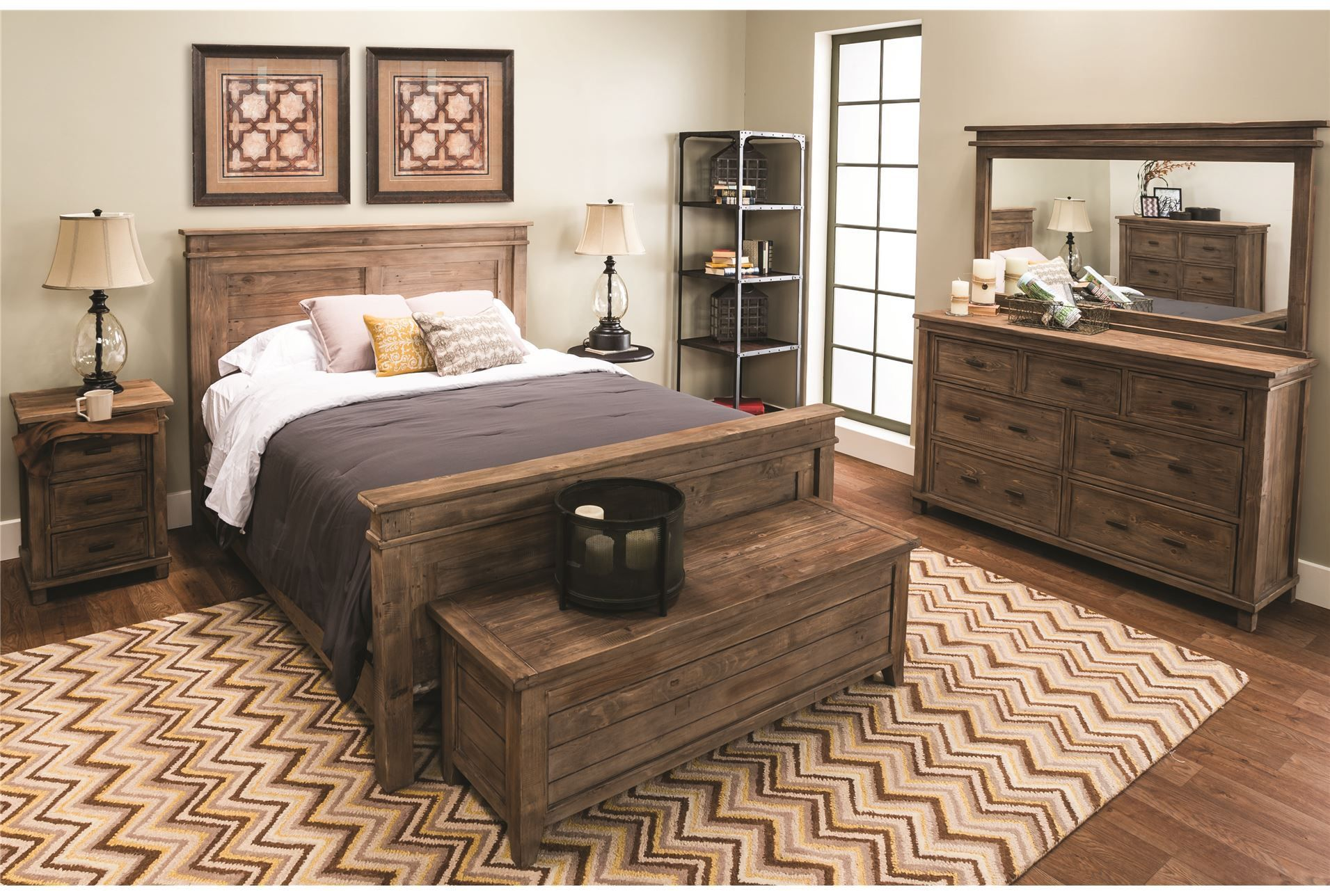 Everest Cal King Panel Bed @ living spaces #BedroomSets | Bedroom