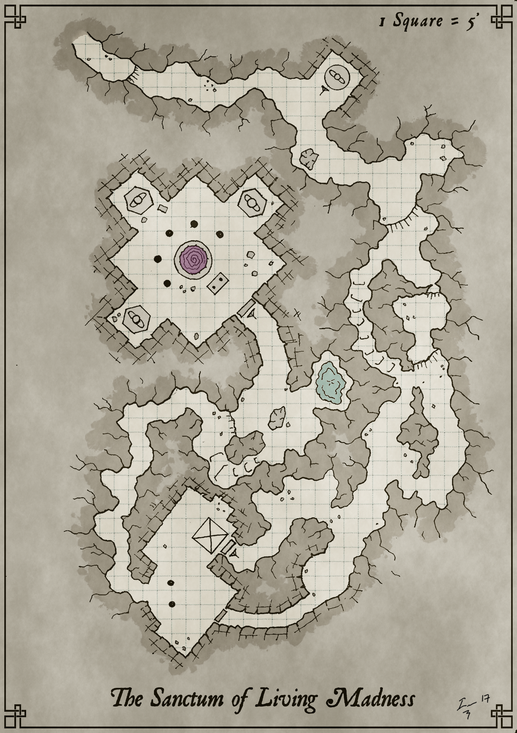 Hand Drawn Battle Map Cleaned And Colored In Gimp Free For Personal Use Fantasy Map Dungeons And Dragons Characters Dungeon Maps