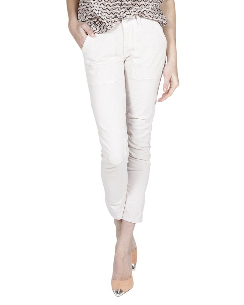 Free People Military Twill Utility Pant in Ice | eLUXE