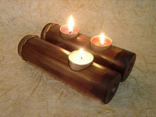 Antique Natural Handicraft Collections November 2010 Bamboo Candle Bamboo Candle Holder Diy Tea Light Candle Holders