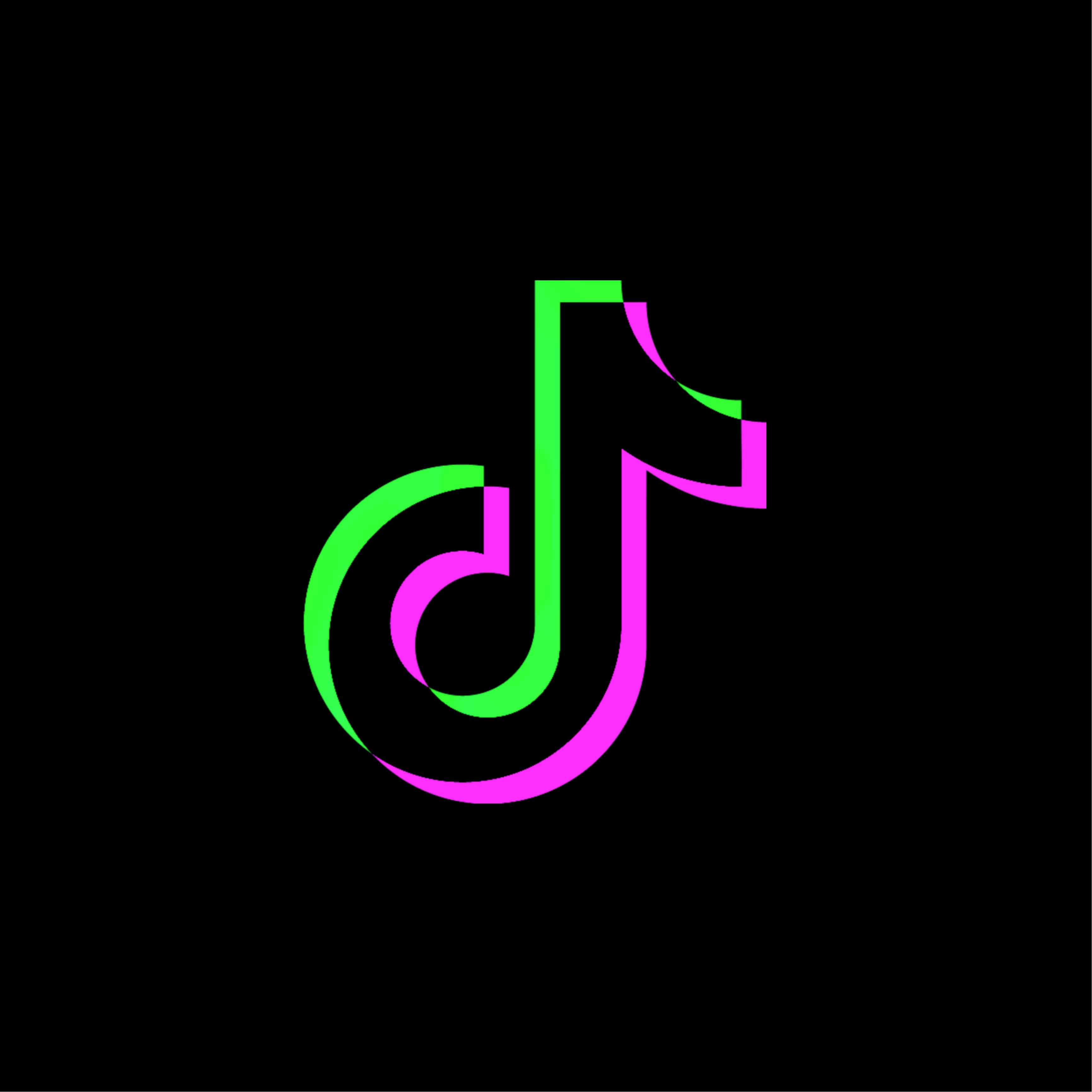 Green And Purple Tiktok Logo Icon Cute Emoji Wallpaper Spotify Logo Neon Aesthetic