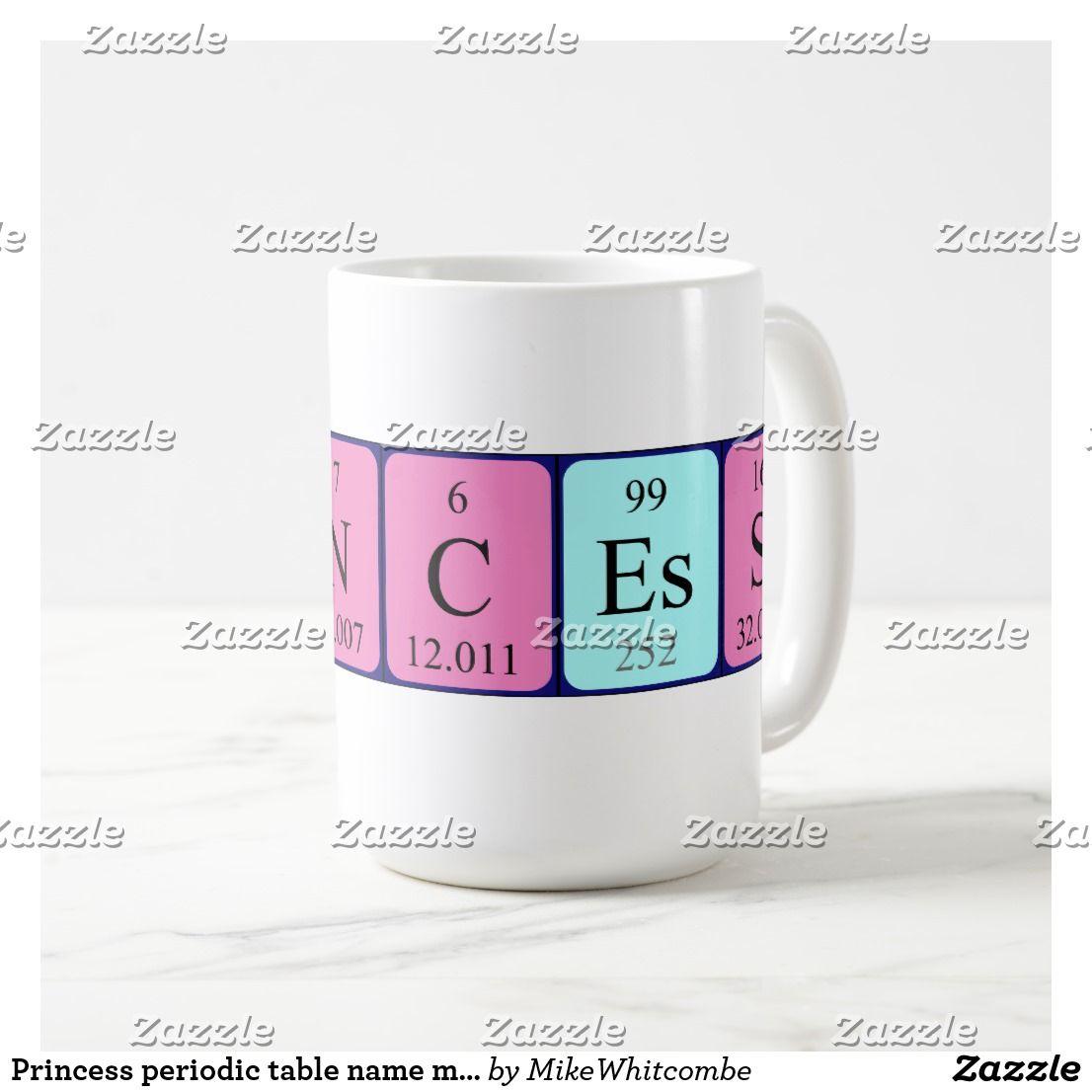 Princess periodic table name mug periodic table princess periodic table name mug urtaz Image collections