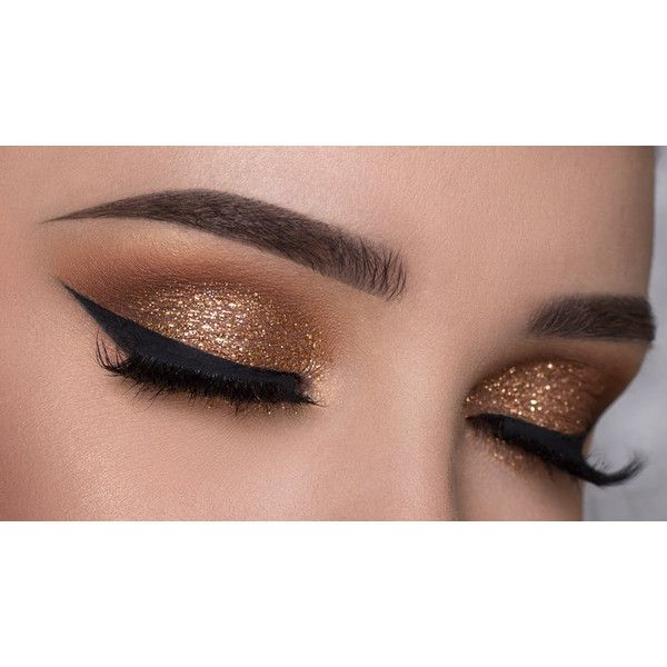 Golden Bronze, Glitter Makeup, Metallic Bronze, Eyes Lips Face, Bronze... (€4,28) ❤ liked on Polyvore featuring beauty products, makeup and eyes