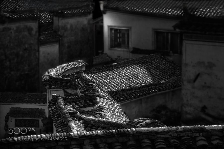 Roofs - Traditional Chinese construction using tiles for roofings.