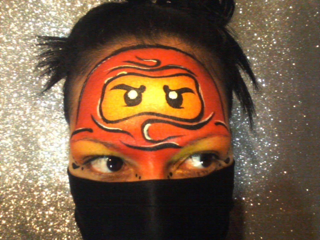 Ausmalbilder Ninjago Gesicht: Ninja Face Paint