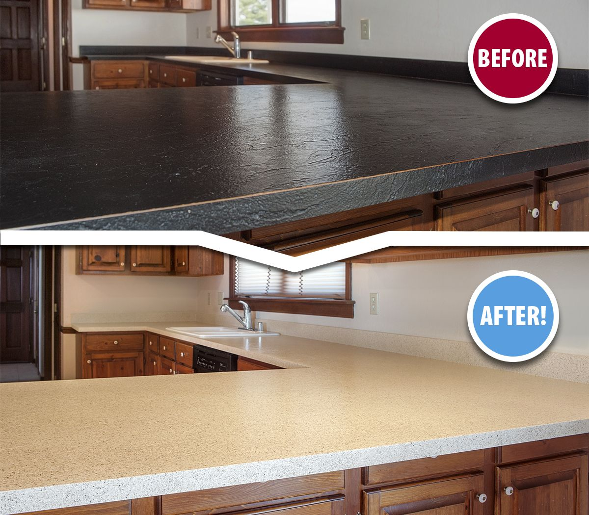 If Your Outdated Kitchen Countertops Have Become An Eyesore You Owe It To Yourself To Learn More About The T Refinish Countertops Countertops Tile Refinishing