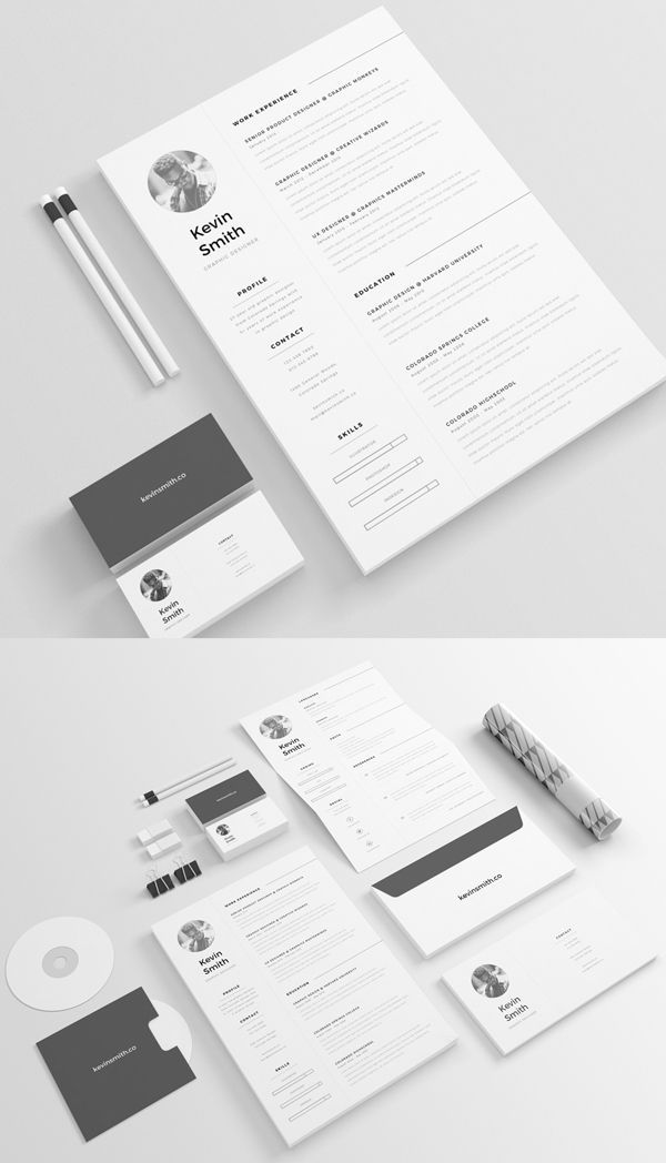 50 Best Free PSD Files for Designers - 46 Resume Designs