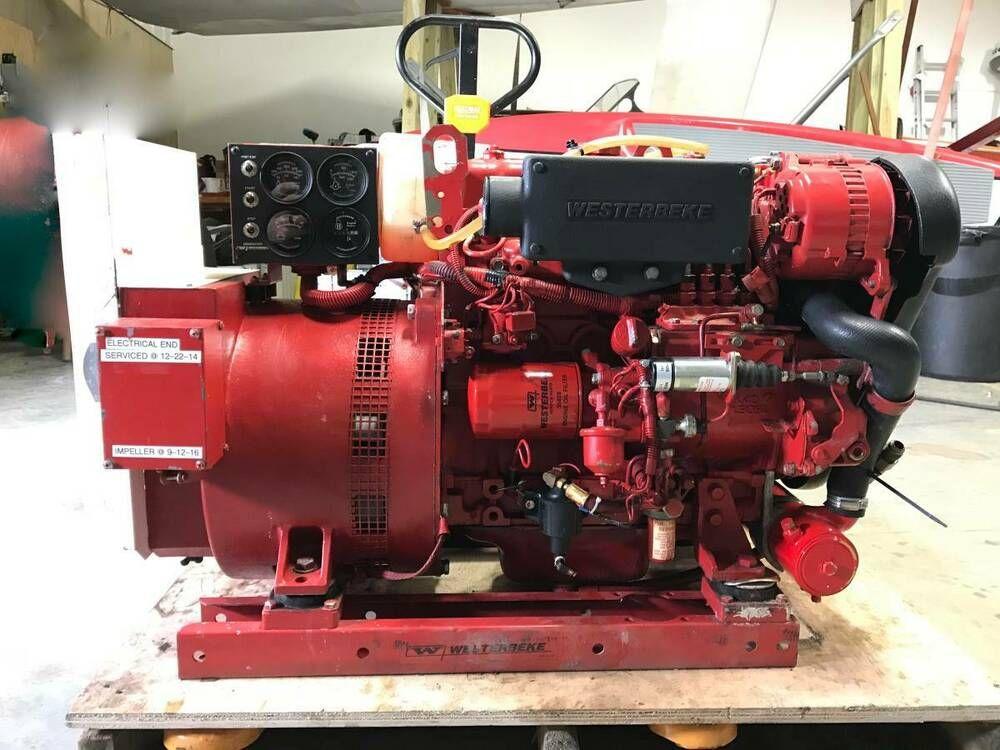 Ebay Sponsored Westerbeke 11 0 Btd 10 Kw Marine Diesel Generator 60 Hz Diesel Generators Diesel Generation