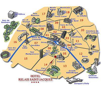 Paris Arrondissements 1 11 Safest Paris Sightseeing Map Paris Map