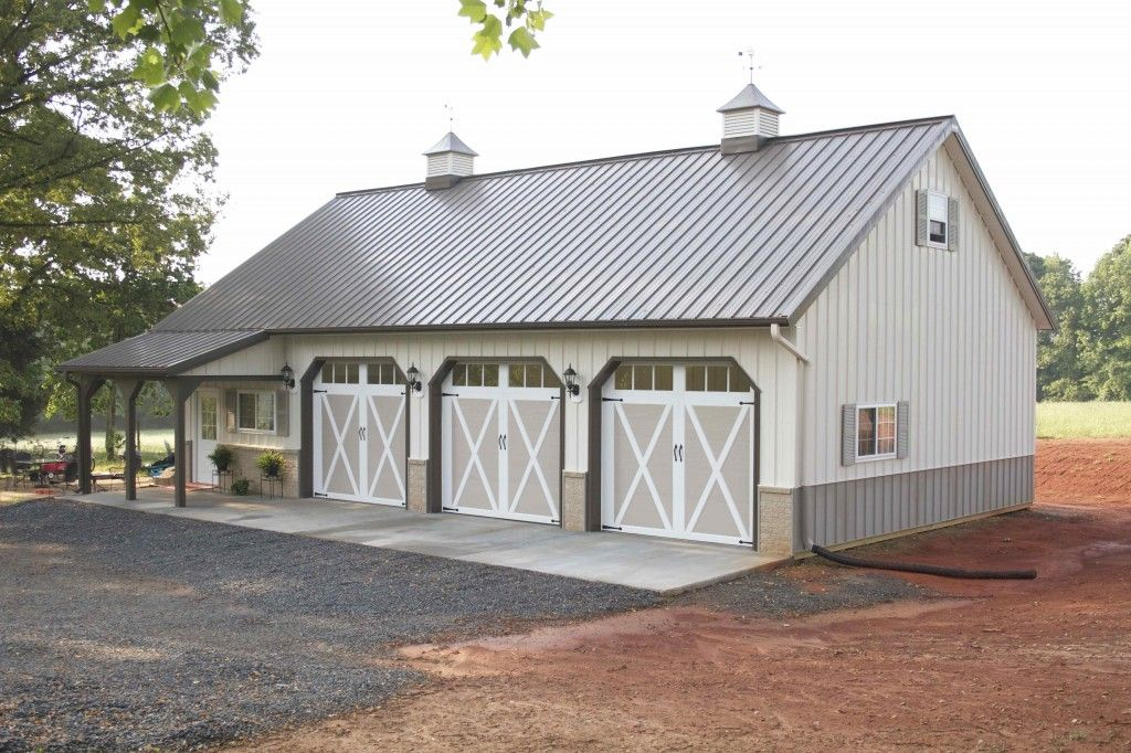 Morton buildings garage in north carolina garages for Pole barn home plans with garage
