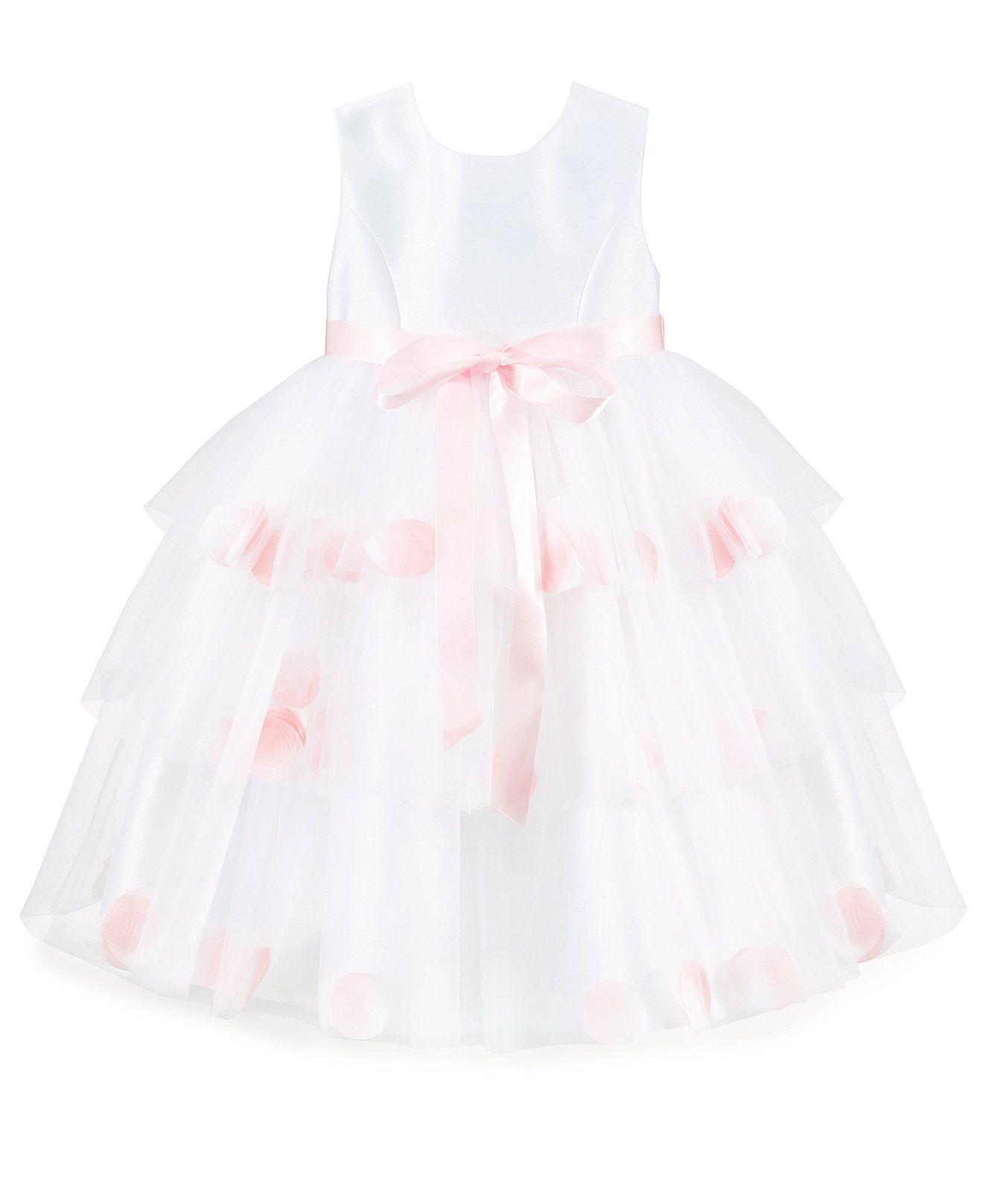 Bella by Marmellata Girls Triple Tier Rose Petal Flower Girl Dress