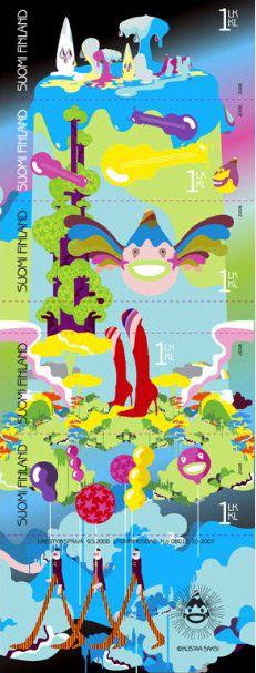Finland postage stamp | Kustaa Saksi