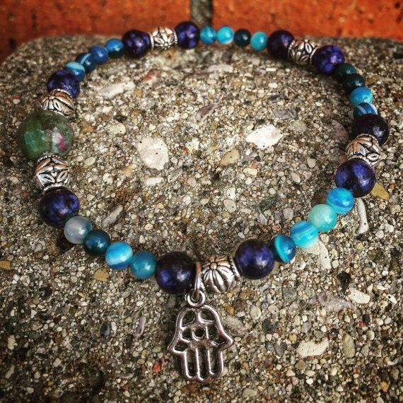 Hamsa Crystal Bracelet by AbisAlternatives on Etsy