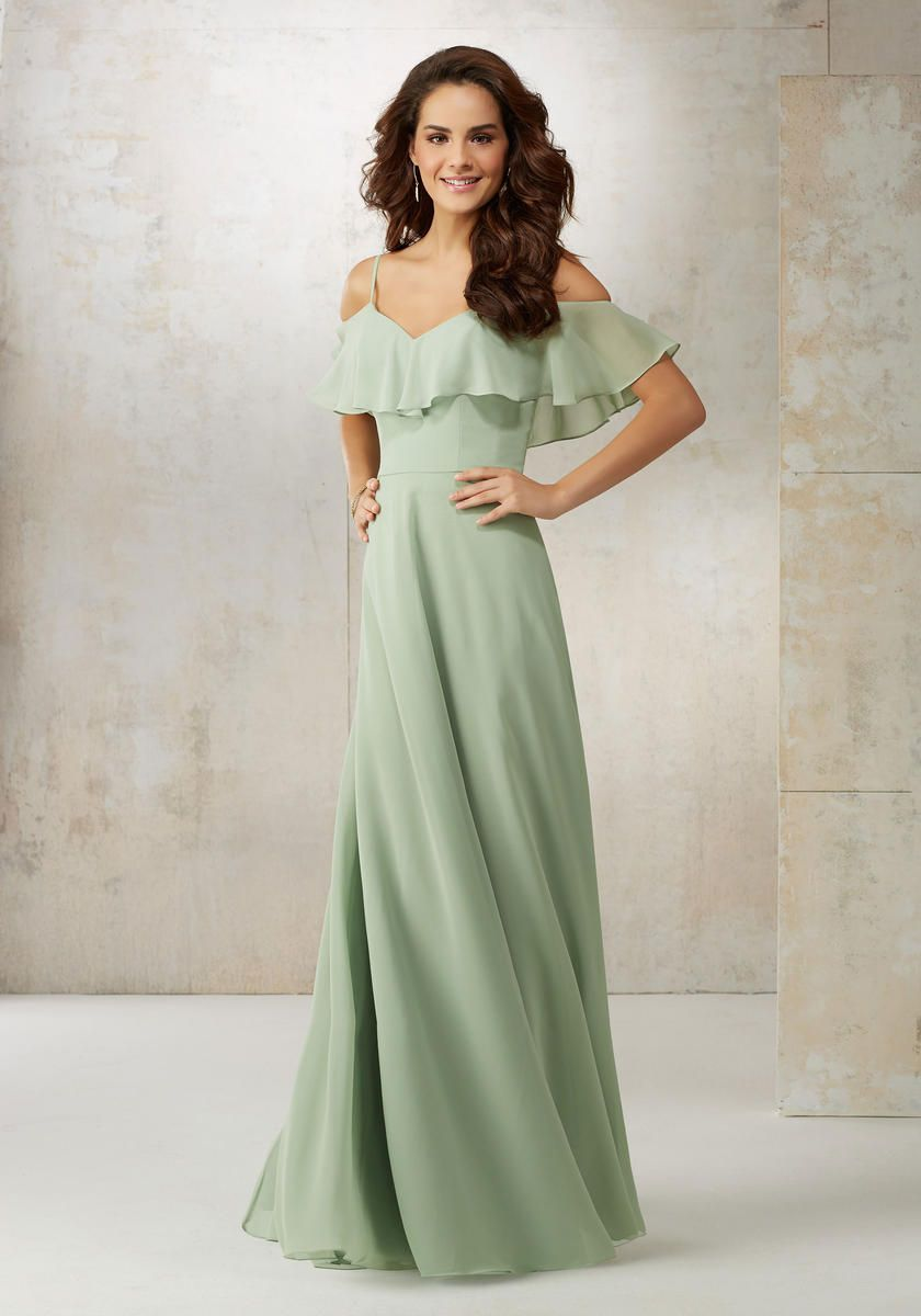 6a30fdcc4f74d Check out the deal on Morilee 21509 Off Shoulder Ruffle Bridesmaid Dress at French  Novelty
