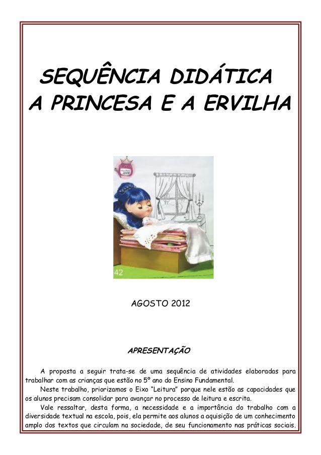 Sequencia Didatica A Princesa E A Ervilha Agosto 2012 Apres Com