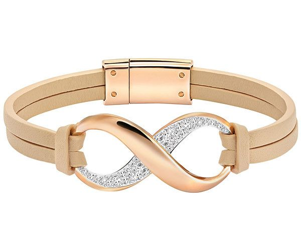 A contemporary design which mixes materials for an easy, chic look. The Exist Bracelet is crafted in rose gold-plated metal, clear crystal pavé,…
