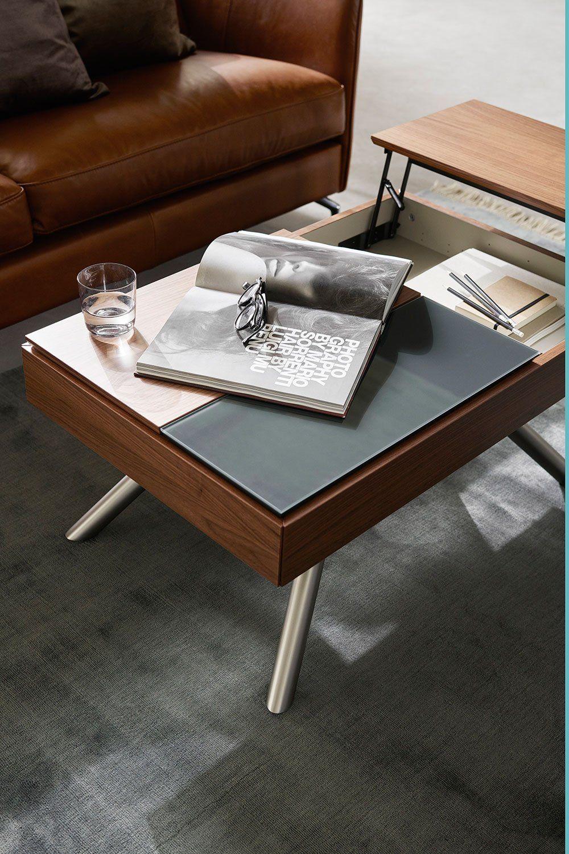 10 Tables Basses Relevables Pour Optimiser L Espace Dans Votre Salon Table Basse Relevable Table Basse Table Basse Avec Plateau Relevable