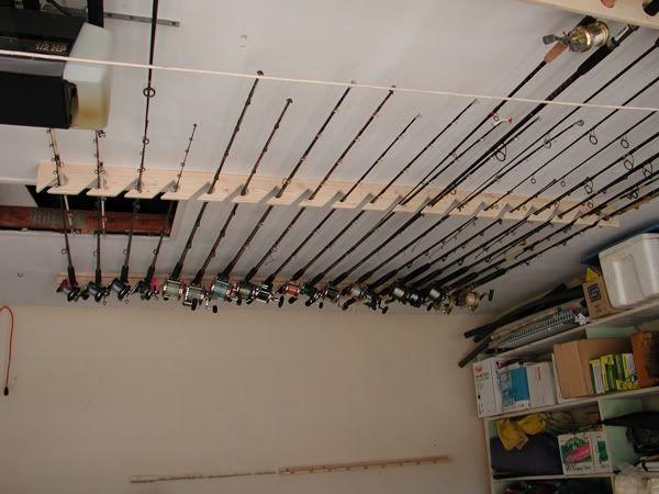 Storage husbygge pinterest for Fishing rod case diy