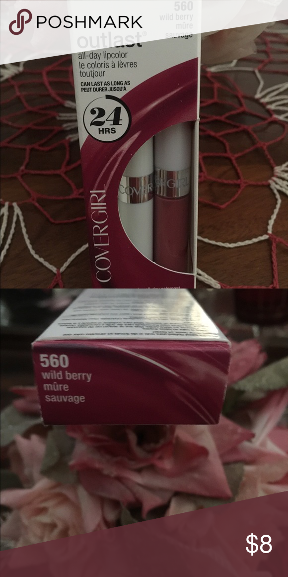 Covergirl Outlast All day lip Color 24 Hour lip color with separate lip balm💋 Color: Wild Berry! Beautiful for all seasons 😘 Makeup Lipstick