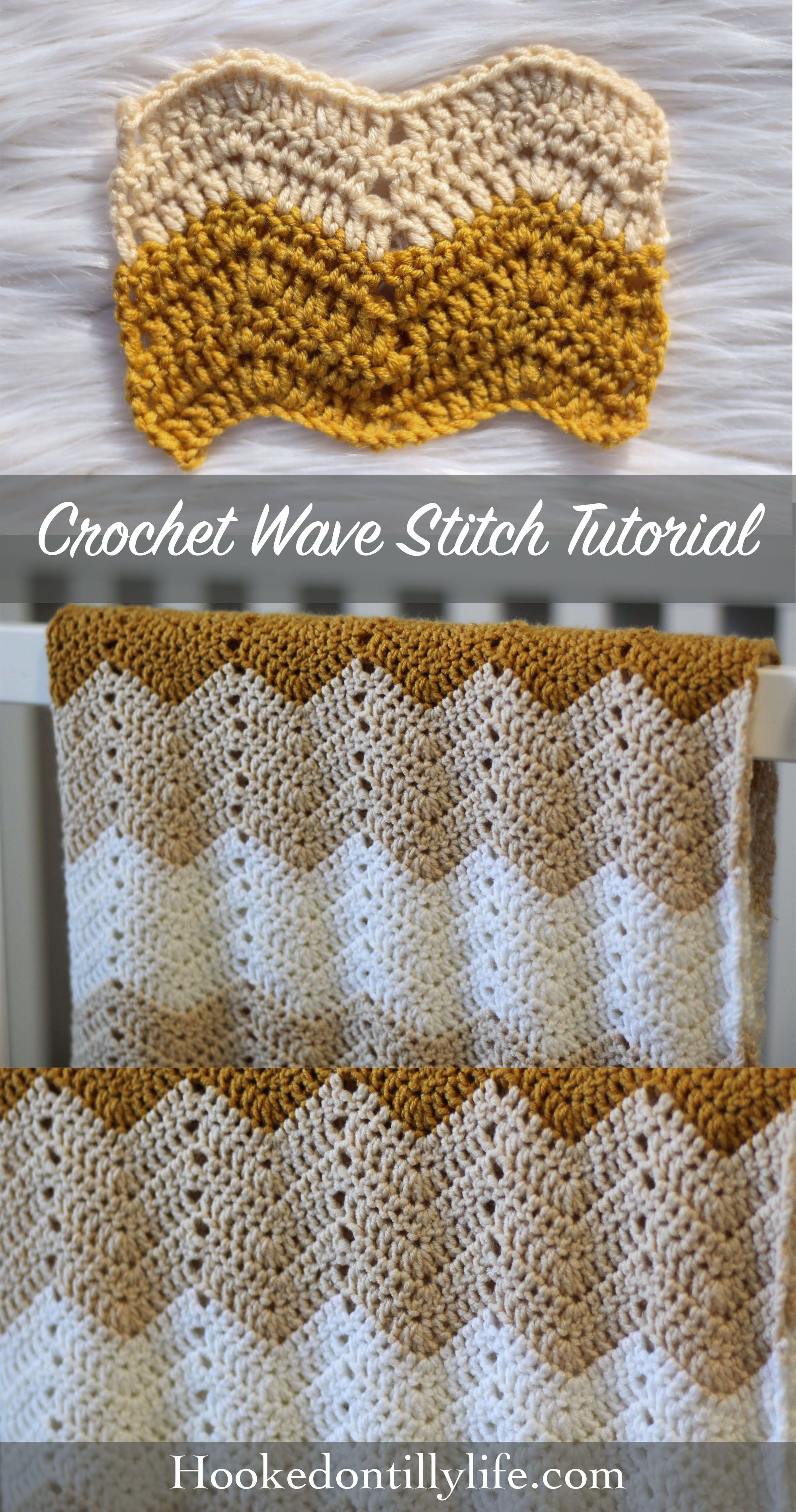 Wave Stitch Tutorial - Crochet Stitch #crochettutorial