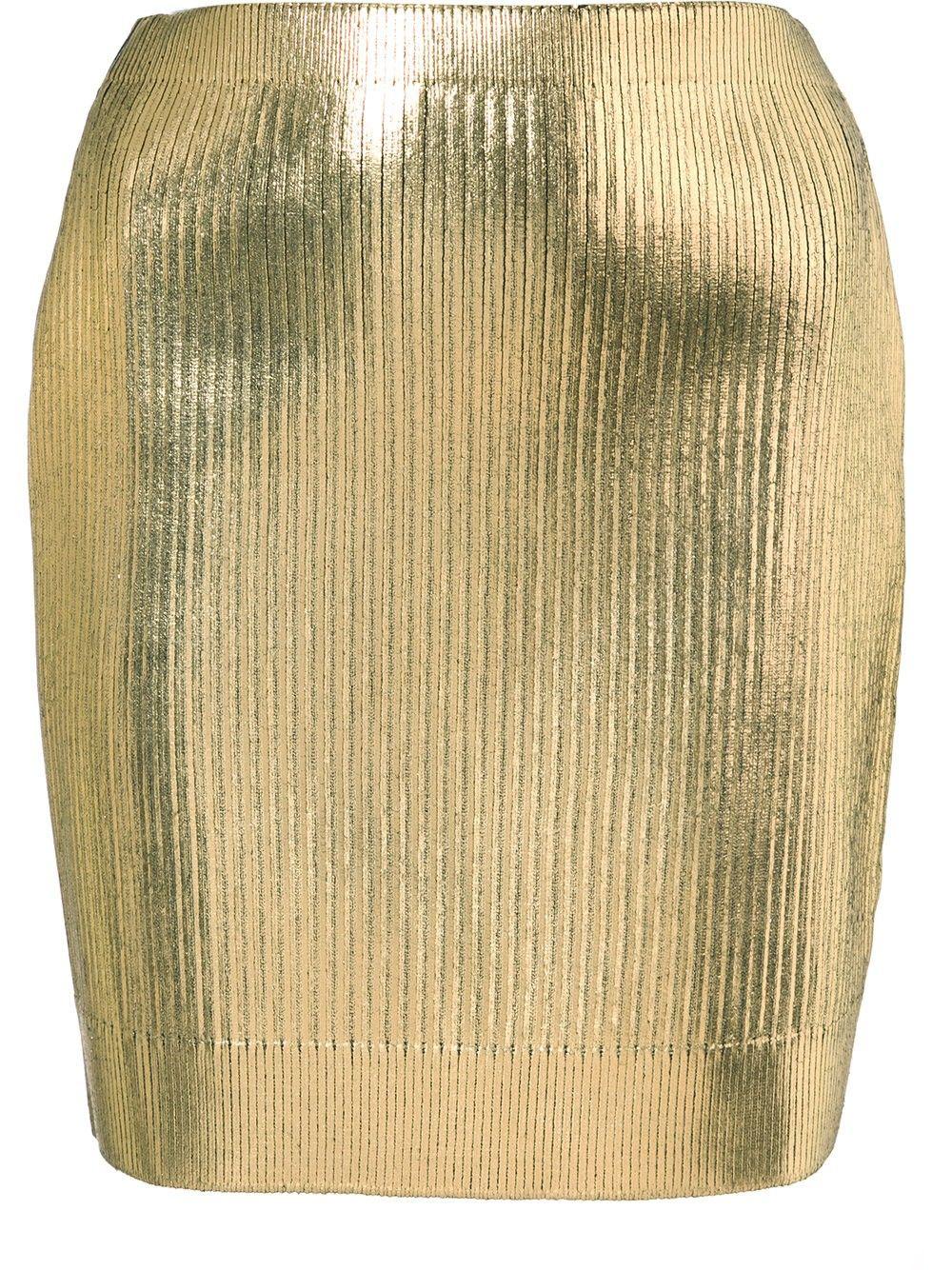 Love this by SAINT LAURENT Metallic Coated Mini Skirt - $635