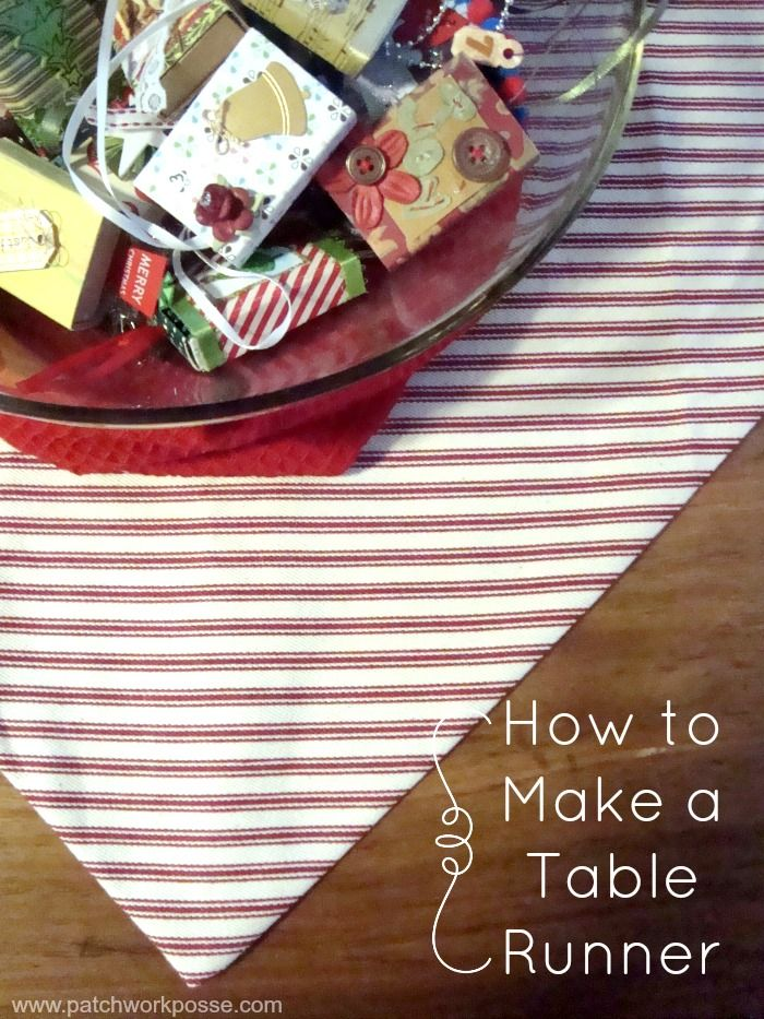 how to make a table runner sewing projects craft and table runner