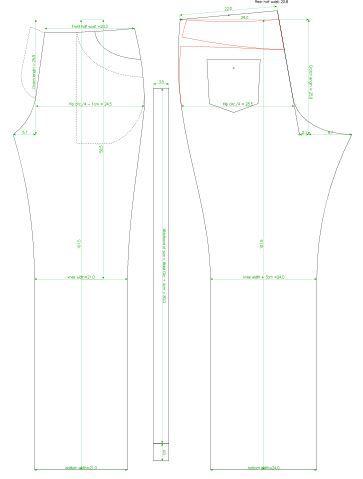 Womens Jeans Sew Pattern Sew Pattern Generator In 2018