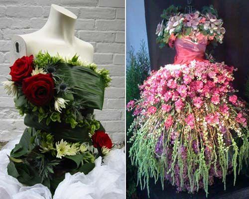 платья из живых цветов