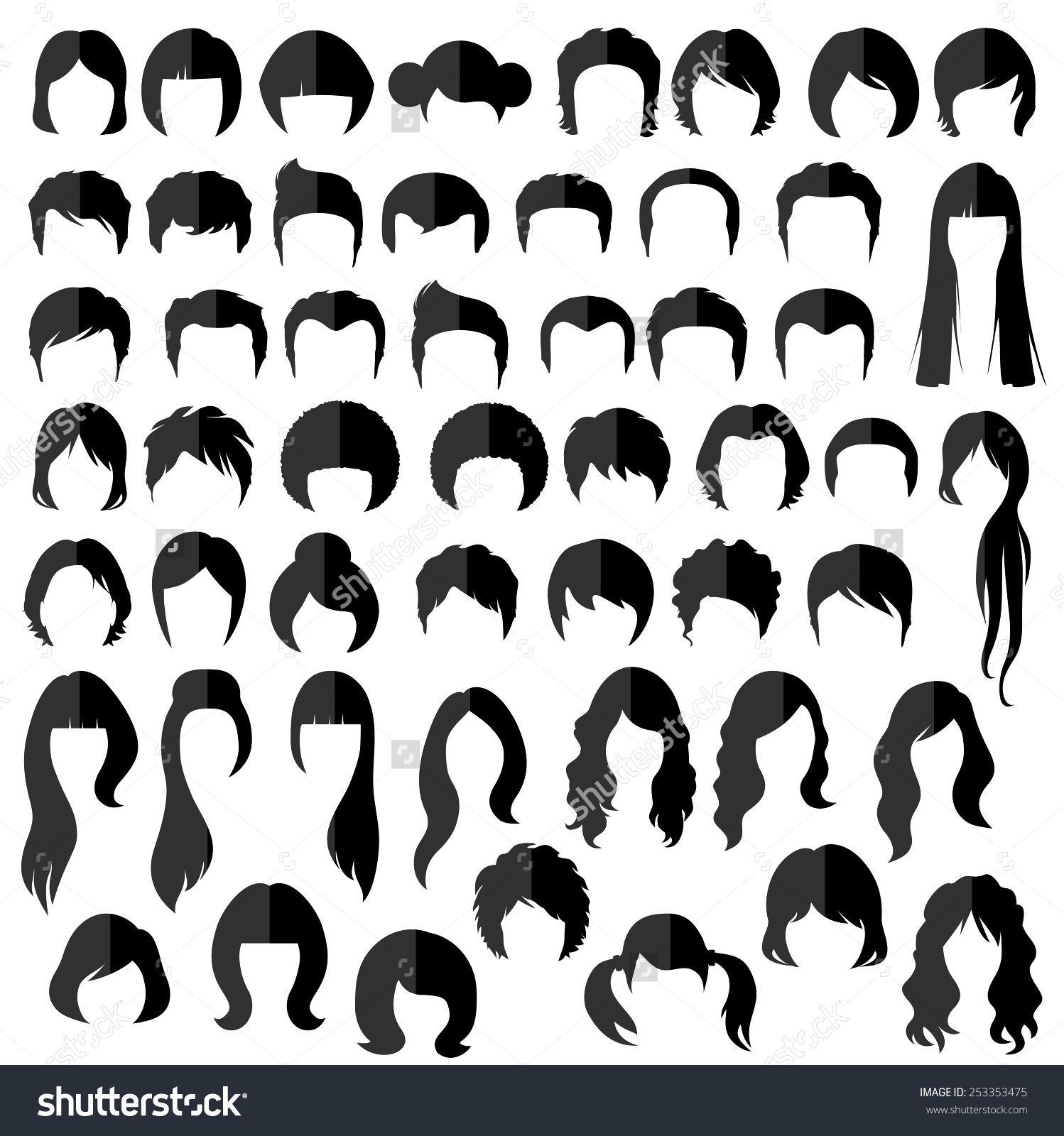 Stockvectorwomanmanhairvectorhairstylesilhouette - Girl hairstyle vector free download