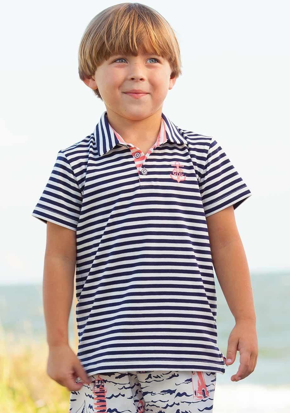77de6768 Navy Stripe Polo | Boys Spring 2017 Styles | Pinterest | Boys ...