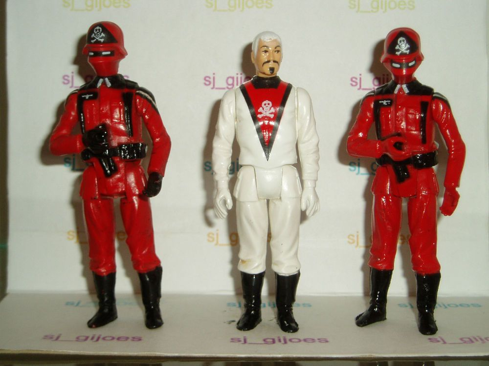 Gi joe action force figures Red Laser Jackel Convention Steel Brigade Red Shadow