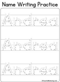 custom printables my name preschool pinterest tracing