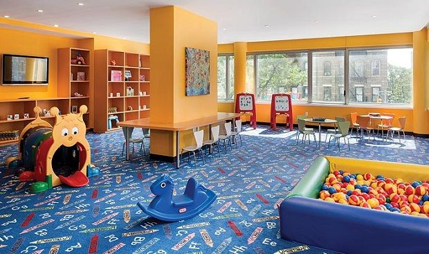 Interior Ideas, Boys Playroom Designs With Orange Wall Interior Color  Decorating Ideas Plus Blue Carpet Part 46