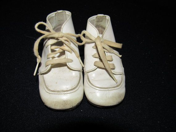 Vtg Pair Baby Hard Soled Walking Shoes Buster Brown by ThenForNow