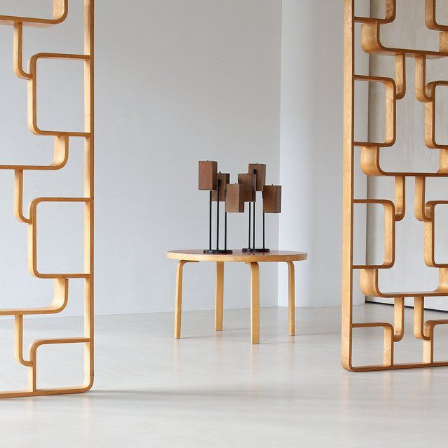 Wood Partitions Contemporary Vintage Interior Design