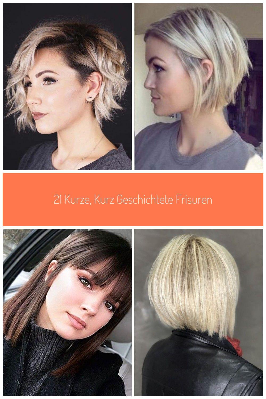11 kurze, kurz geschichtete Frisuren #haare #haarschnitt #frisuren