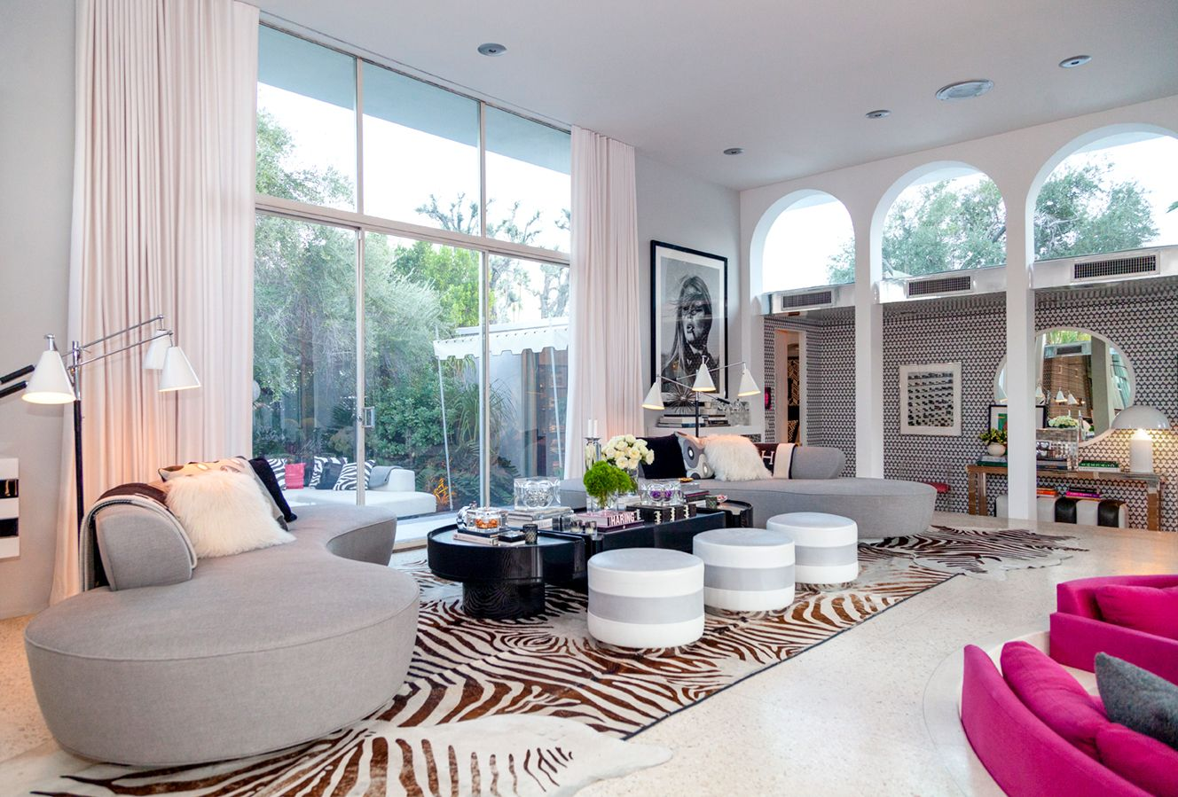 Inside Designer Martyn Lawrence Bullard S Palm Springs Mid Century Home Drapery Styles The Shade Store Shade Store