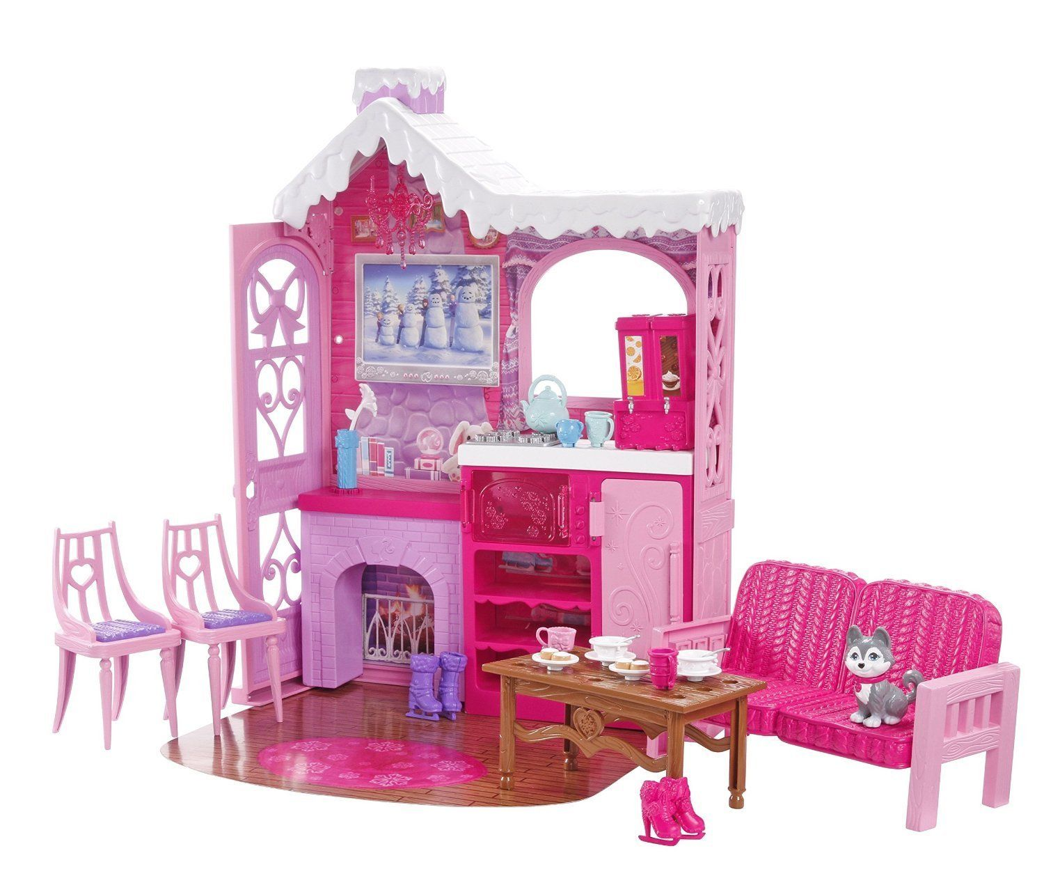 Barbie Ski Chalet and 3 Dolls Amazon.co.uk Toys & Games