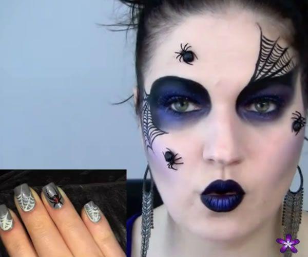Favoritos Maquiagem para o Halloween Aranha Negra - Vídeo com o passo a  IF13