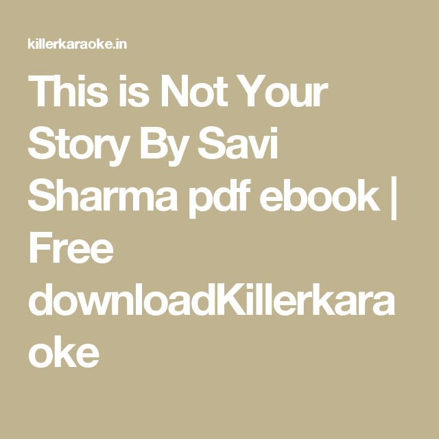this is not your story free download