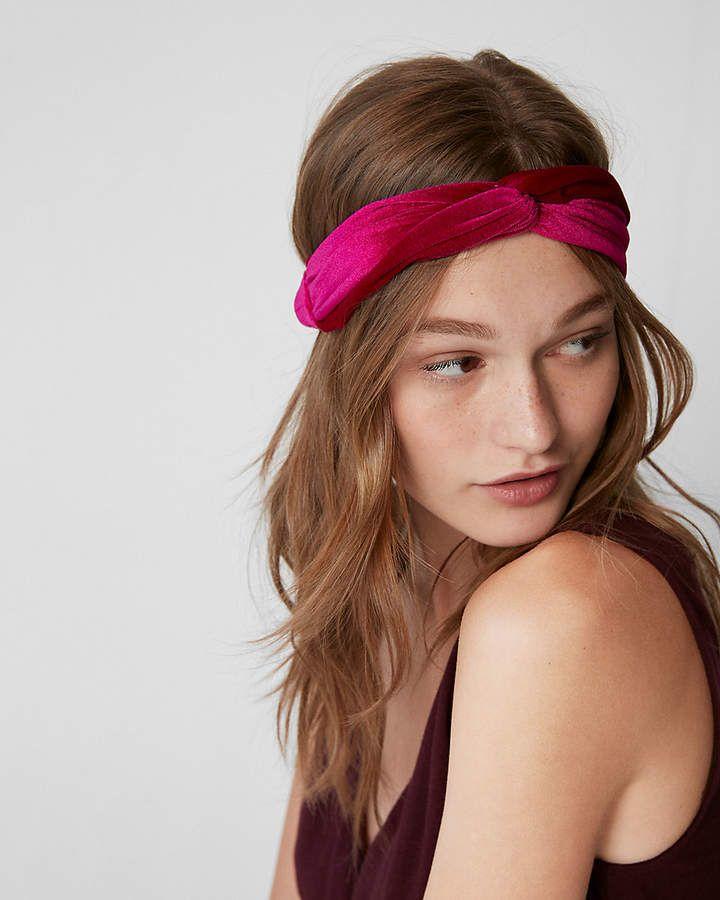 Express Natasha Velvet Knot Headband  e7dac74b7ea