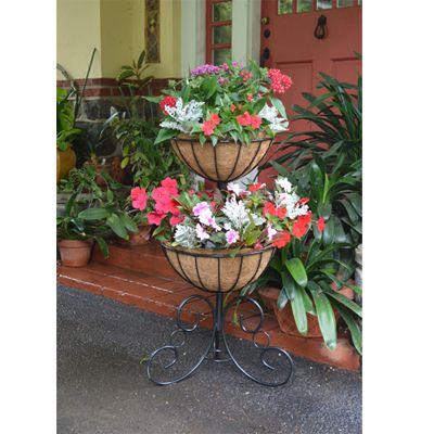 Two Tier Planter Liner Set Tiered Planter Flower Pots Diy Garden Furniture