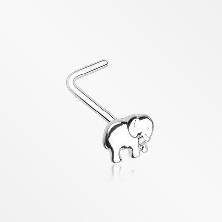 Adorable Baby Elephant L Shaped Nose Ring L Shaped Nose Ring