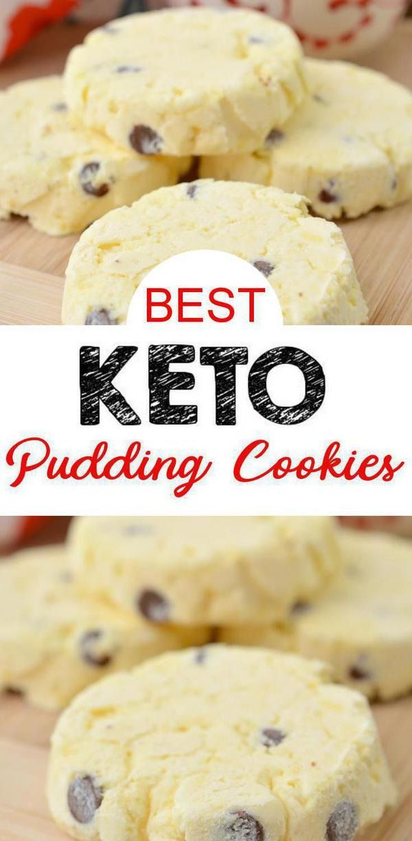 3 Ingredient Keto Vanilla Chocolate Chip Pudding Ice Cream Cookies – The BEST Low Carb Flourless Keto Cookies {Easy – No Bake} #ketocookierecipes