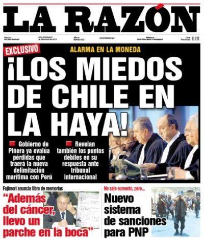 La República - Perú - 02.12.12. #LaHaya #Peru #Chile